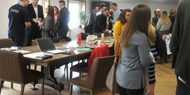 Local businesses mix coffee and networking at BP Rolls