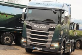 New fleet Scania cab and trailer livery